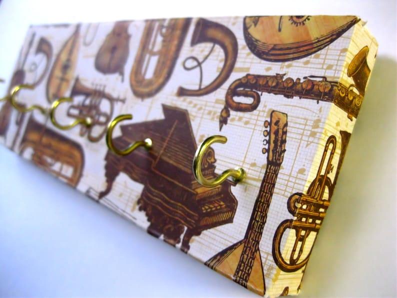 Key Rack Jewelry Hanger Gold  Instrumental Music Brass image 0