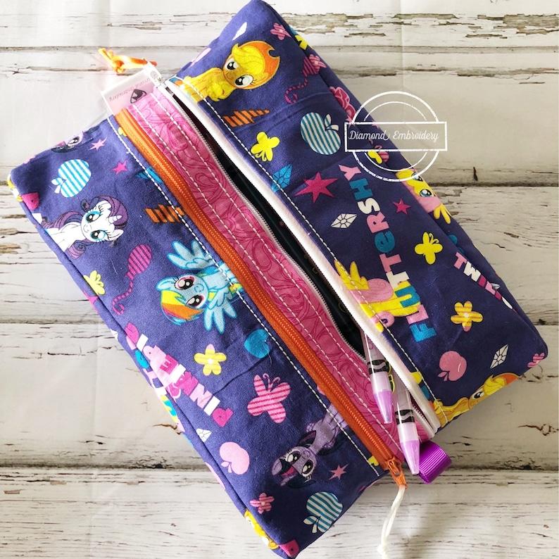 Double pocket pencil case