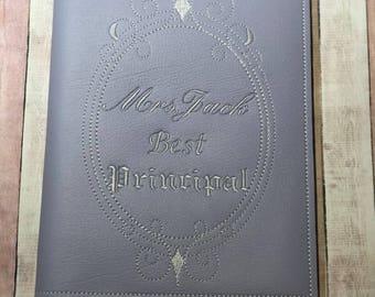 Lavender Vinyl Notebook Holder