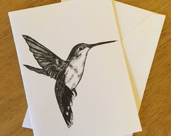 "Hummingbird 5X7"" greeting card (set of 10)"