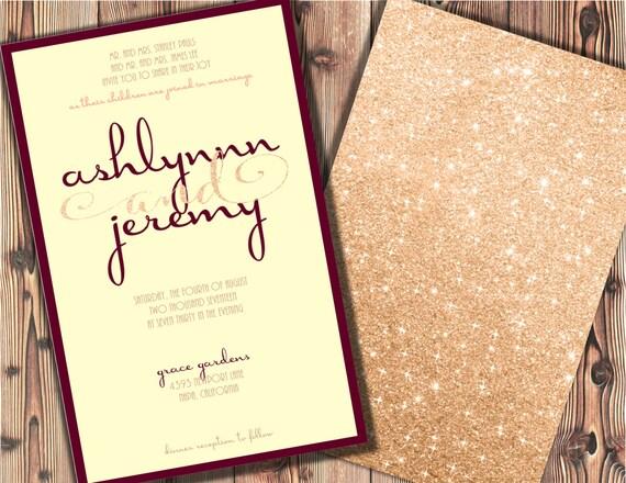 Burgundy And Gold Wedding Invitations: Burgundy And Blush Wedding Invitations Burgundy And Rose