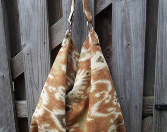 Ikat Fabric /Hobo Bag