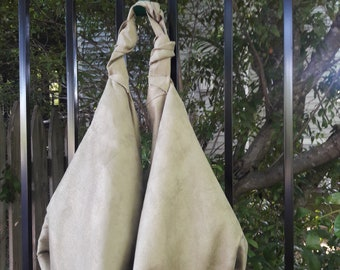 Olive Green/ Faux Suede/Hobo Bag