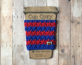 Buffalo Bills, Coffee Sleeve, Cup Cozy, Cup Holder, Coffee Cup Cozy, Cup Sleeve, Coffee Cozy, Coffee Cup Sleeve, Reusable Coffee Sleeve