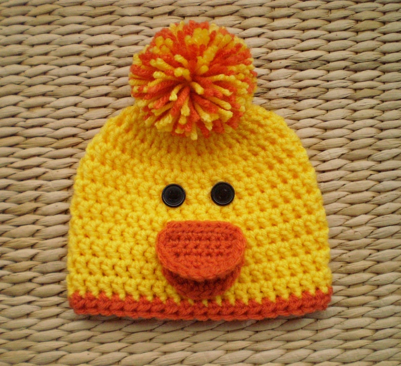 53c4c991a Duck Hat, Duck Beanie, Baby Easter Hat, Spring Hat, Baby Hats, Newborn Hat,  Toddler Hat, Kids Hats, Womens Hats, Mens Hats, Photo Props