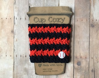 Detroit Tigers, Coffee Sleeve, Cup Cozy, Cup Holder, Coffee Cup Cozy, Cup Sleeve, Coffee Cozy, Coffee Cup Sleeve, Reusable Coffee Sleeve