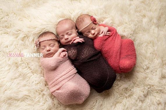 Newborn knit stretch wrap newborn photo prop baby stretch