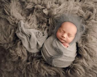 Cloud Wrap, Brown Newborn Wrap, Newborn Photo Prop, Brown Stretch Wrap, Essential Newborn Stretch Wrap, Newborn Stretch Knit Wrap