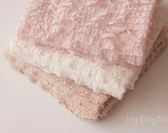 Newborn Ruffle Stretch Wrap, Newborn Photo Prop, Baby Ruffle Wrap, Baby Girl Ruffle Wrap, Oink Ruffle Wrap, Gray Newborn Wrap - pink or gray