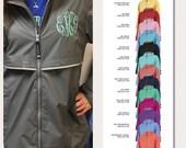 Rain Coat Monogrammed Monogram Rain Jacket Women 39 s Personalized Charles River Full Zip New Englander Rain Coat Gray Grey