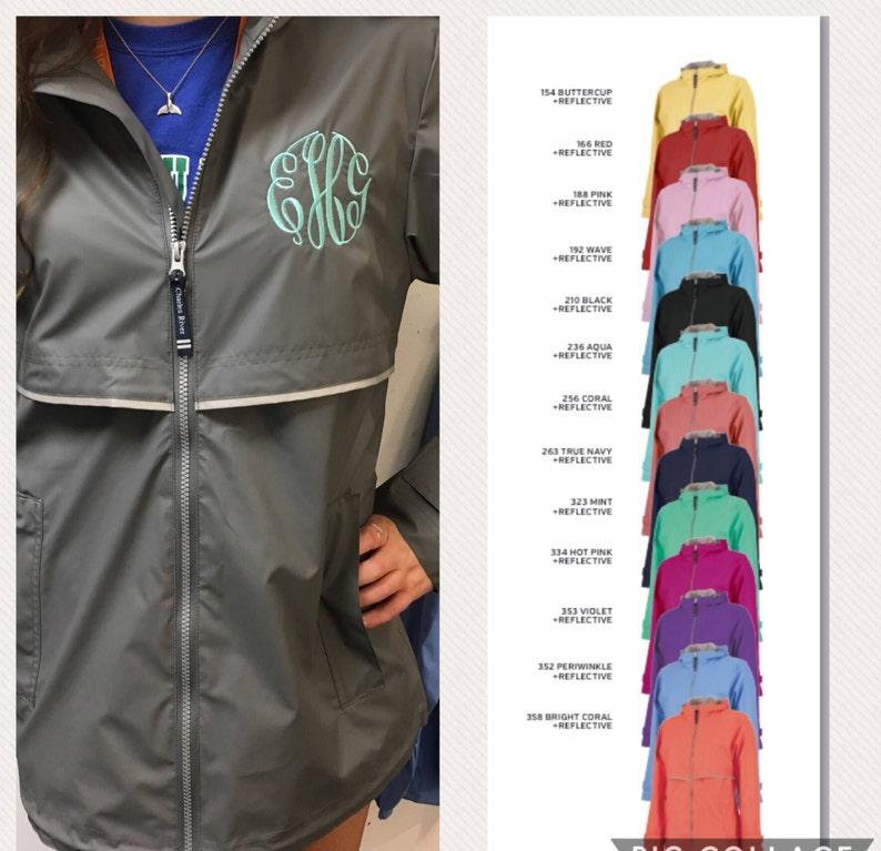 d2054e3a048 Rain Coat Monogrammed   Monogram Rain Jacket   Women s