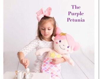 Monogram Mermaid Doll Plush -Personalized Stuffed Animal - Mermaid Birthday - Girls - Toy Mermaid - Mermaid Room Decor - Mermaid Princess