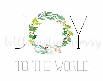 Joy to the World Digital Printable 8x10
