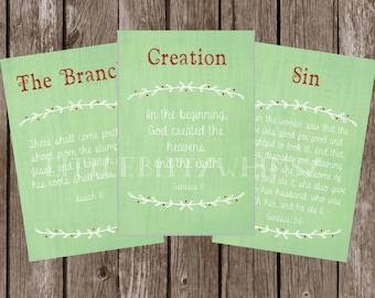 Advent Scripture Cards and Printable Jesse Tree Ornament Set