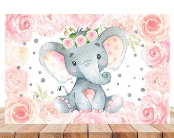 Elephant Baby Shower Backdrop Etsy