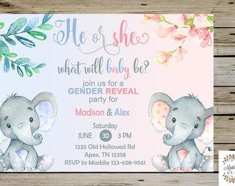 Gender Reveal Invite Etsy