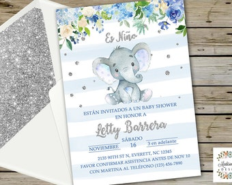 Baby Shower Elefante Etsy