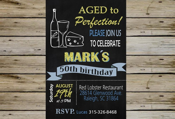 50th Male Birthday Invitation