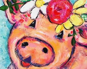 Pig Notecards, Pig stationery