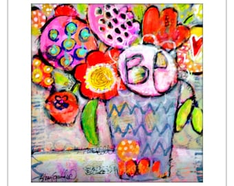 Floral Print, Colorful Wall Art