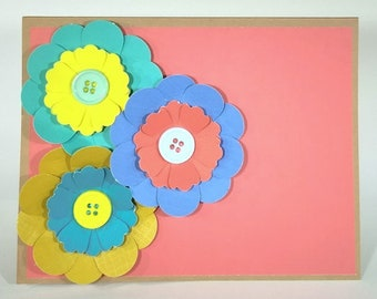 Three Dimensional Paper Flower Card