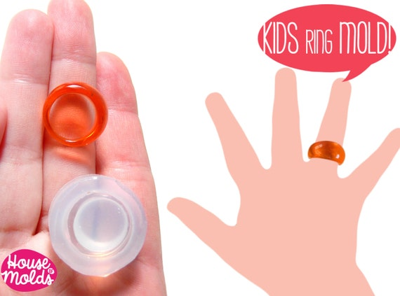 Kids Bubble Ring Clear Silicone Mold-Mold to create Kids Resin rings