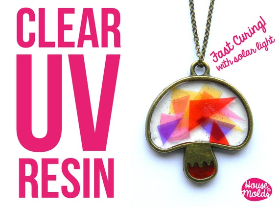 Uv Resin Kit + free gift bezels -Clear Uv hard type resin- cures in few minutes under  Uv lamp / sunlight