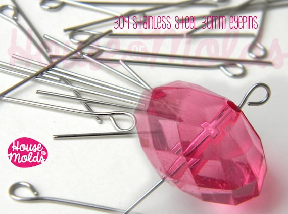 Stainless Steel 30 mm Eyepins -perfect for create your pendants or earrings!