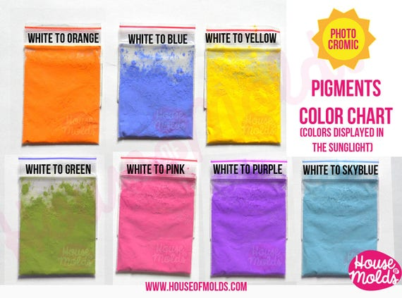 1 gram Colour Changing in the Sunlight Special Pigments - change from white/translucent  to colour when exposed to the sunlight-Just Magic!