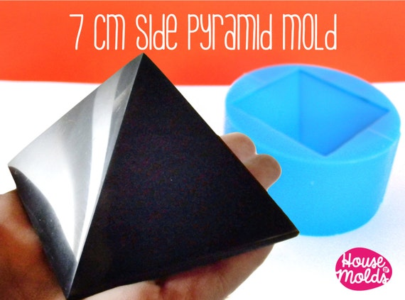 7 cm x side Pyramid ,Mold for 3D Pyramid- from house of molds