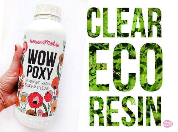 WowPoxy Biobased Super Clear Resin-1,50 kg Epoxy created for jewelry making : high quality castings low viscosity Uv stable  House of Molds