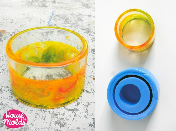 READY TO SHIP Tall Plain Bangle Mold 4,9 cm tall,6,6 inner diameter , flexible clear  silicone mold for resin bangle,bangle maker mold