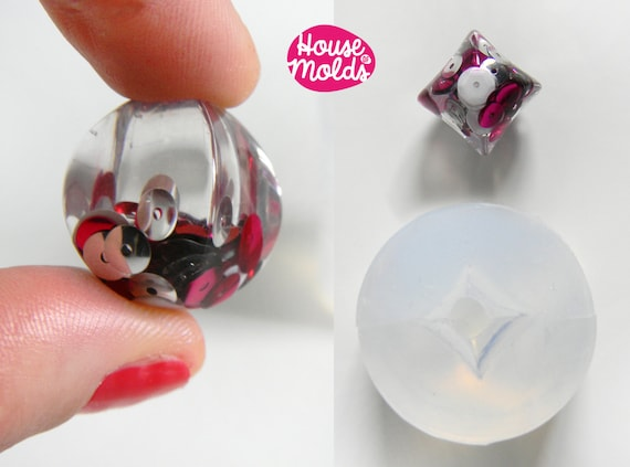 Clear Mold for Twisted Squared Pendant  ,Mold for resin earrings or  necklace-House of Molds Super Transparent Mold