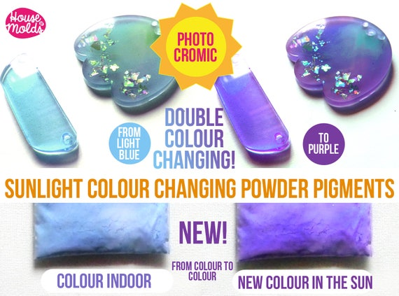 Double Colour Changing in the Sunlight Special Pigments - change from colour  to  new colour when exposed to the sunlight-Just Magic!