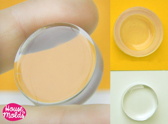36 mm Flat Circle Clear  Silicone Mold  , transparent Round Mold  to make resin  earrings , pendants or decorations
