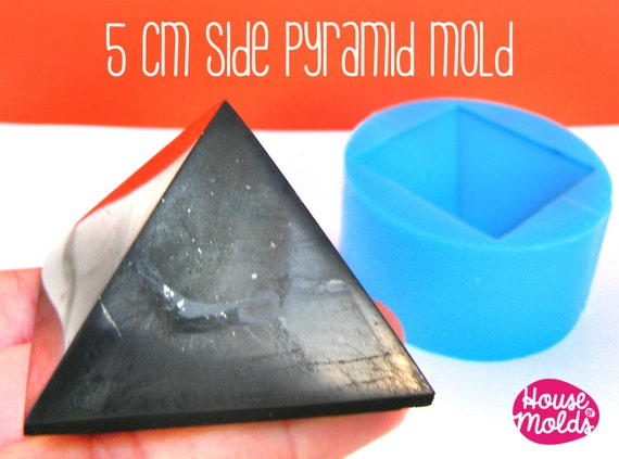 5 cm x side Pyramid ,Mold for 3D Pyramid- from house of molds