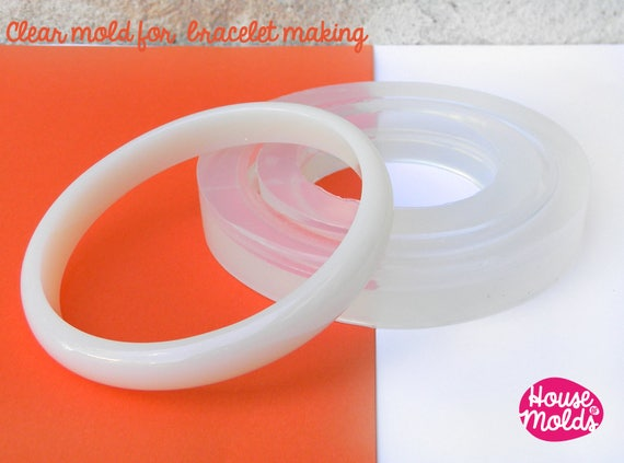 Stackable Thin Bracelet Clear Mold,resin bangle maker mold ,silicone mold 6,8 cm inner diameter bangle