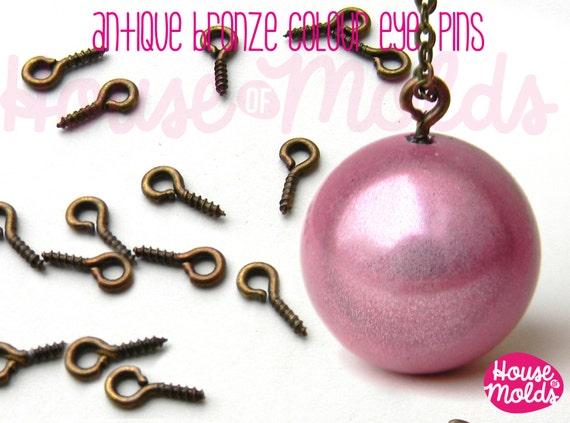 Antique Bronze Screw Eyepins 9x3.5 mm-perfect for create your pendants or earrings!