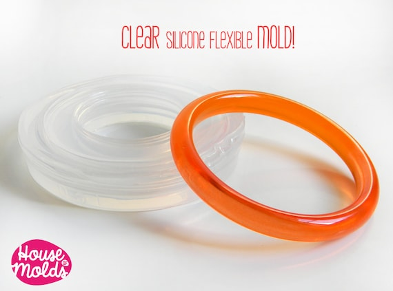 Rounded Smooth Bangle Clear Mold,resin bangle mold maker,silicone mold 6,7 inner diameter bangle