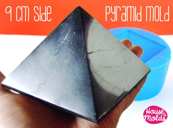 9 cm x side Big Pyramid ,Mold for 3D Pyramid- from house of molds