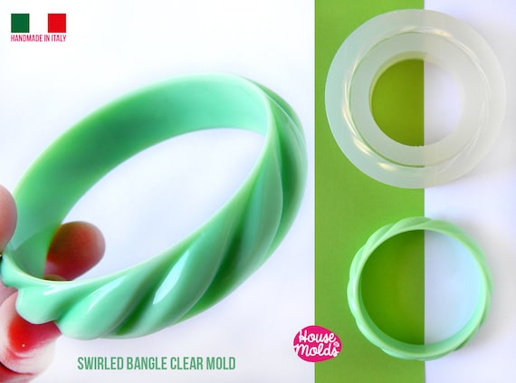 Carved Swirled Vintage Bangle Clear Mold,resin bangle mold, 68 mm inner diameter 18 mm heigth ,super shiny results!