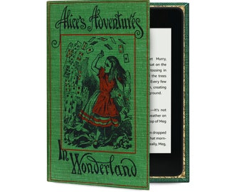 Kindle Case with Alice in Wonderland Book Cover design