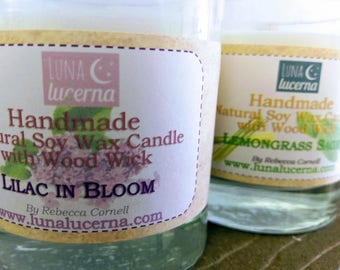 Soy Woodwick Candle | Spring & Floral Fragrance Collection | All Natural | scented | crackle | reusable