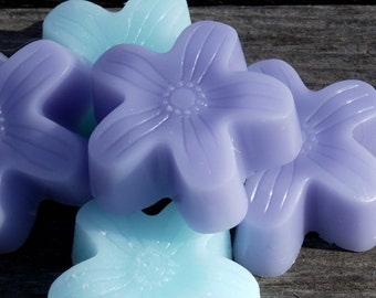 Small Flower Shaped Shea Butter Soaps | Set of five | Party Favor | Gift Soap