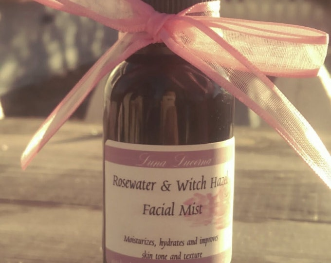 Featured listing image: Rosewater & Witch Hazel Facial Mist   Toner   2oz   Natural Facial Care   Add Tea Tree EO!