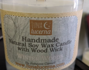 Soy Woodwick Candle   Winter & Holiday Fragrance Collection   Holidays   Natural   scented   crackle   reusable