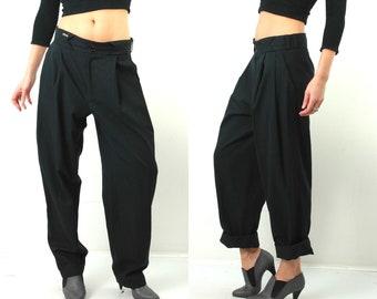 Vintage Man Pants / Man Black Pants / Boyfriend Pants / Vintage Black Pants / Man Black Pants / Classic Pants / Man Trousers / 90s Man Pants