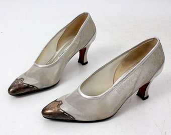 a332999f442 Baldinini Made in Italy Pumps   Italian Pumps   Silver Pumps   Size 37 Pumps    Vintage Pumps   Metal Details Shoes   Sheer Pumps   90s Pumps