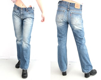cf4e3810 Vintage Levis 507 Blue Jeans / Levis W32 L34 Jeans / 90s Levis Jeans /  Woman Levis Jeans / Levi Strauss Jeans /Large Levis Jeans Faded Jeans
