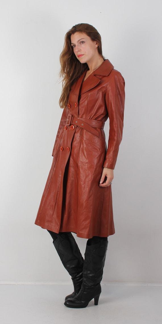 Coat Scandinavian Leather Coat Boho 70s Vintage Coat Coat Large Brown Leather Leather Woman Coat Coat Leather Leather Coat Pxfwa